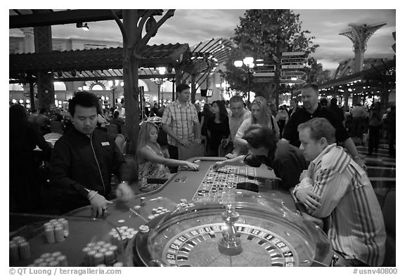 In roulette once in awhile someone will bet