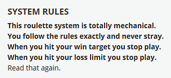 canon roulette system rules